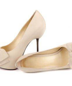 Blush Satin High Heels