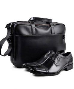 Black Shoes and Bag Set